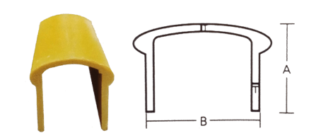 U type tube handrail profiles