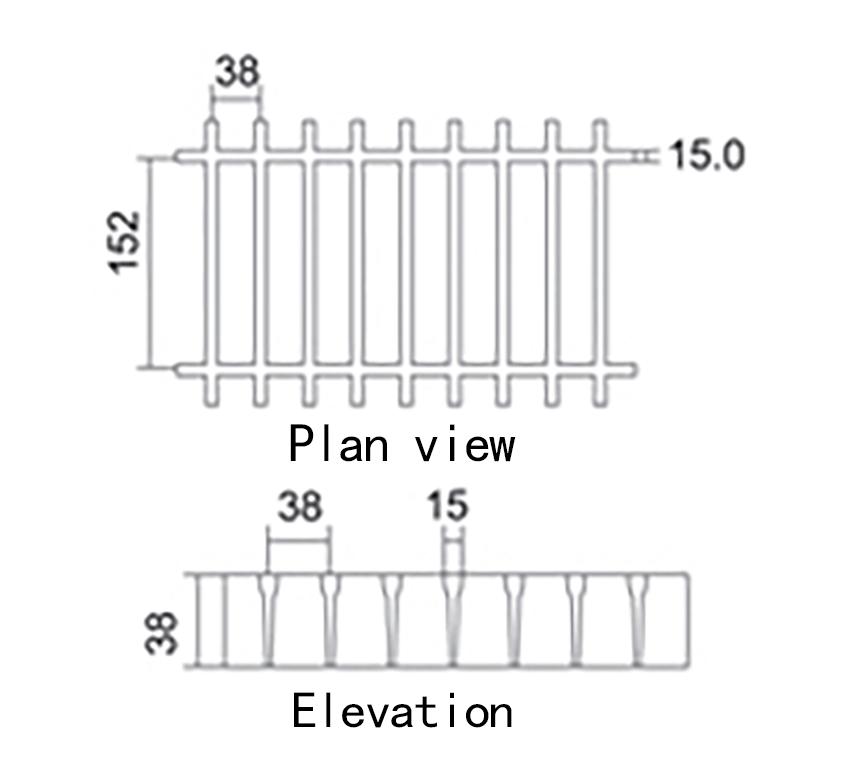 38 152 H38 T shape