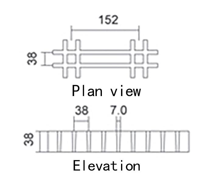 38 152 H38 Stair tread