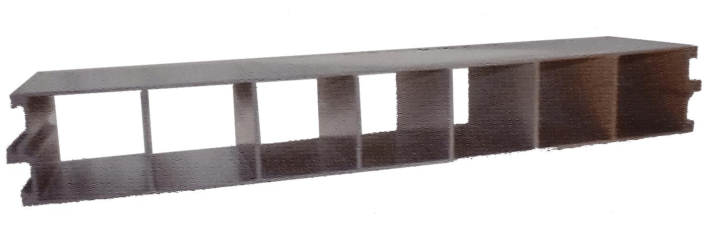 Seven hole partition board