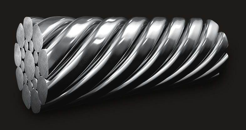 绿盟GB压实型不锈钢钢丝绳1X19 (12/6/1)