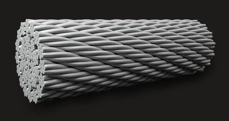 绿盟 国标 耐旋转钢丝绳 32X7 (6/1)
