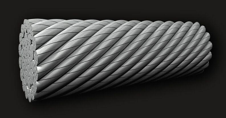 绿盟GB(有涂层)压实抗旋转钢丝绳32X7 (6/1)