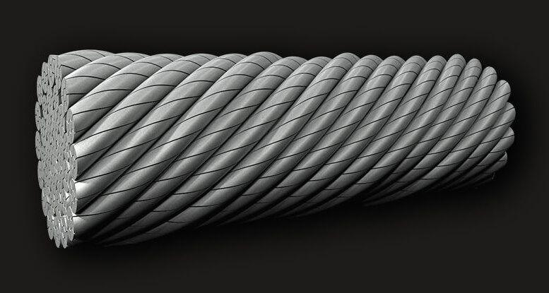 绿盟GB(有涂层)压实抗旋转钢丝绳35X7 (6/1)