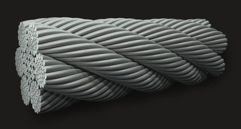 Marine Grade Stainless Steel Wire Rope 6x36 (14/7+7/7/1) IWRC