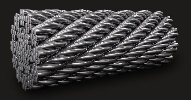 绿盟GB耐旋转钢丝绳18X7(6/1)
