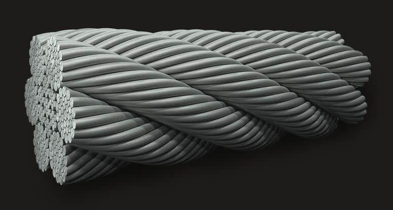 绿盟GB(有涂层)钢丝绳6X36 IWRC