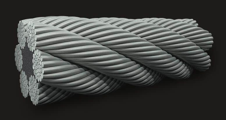 绿盟GB(有涂层)纤维芯钢丝绳6X36 FC