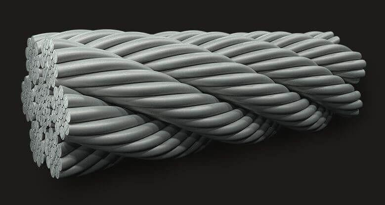 绿盟GB(有涂层)密封钢丝绳6X19(9/9/1) IWRC