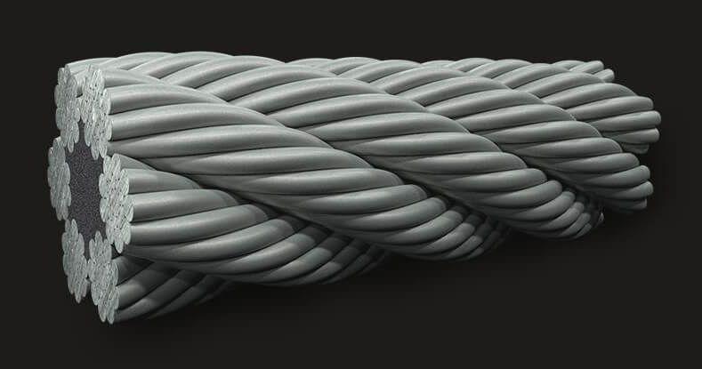 绿盟GB(有涂层)密封钢丝绳6X19(9/9/1) FC