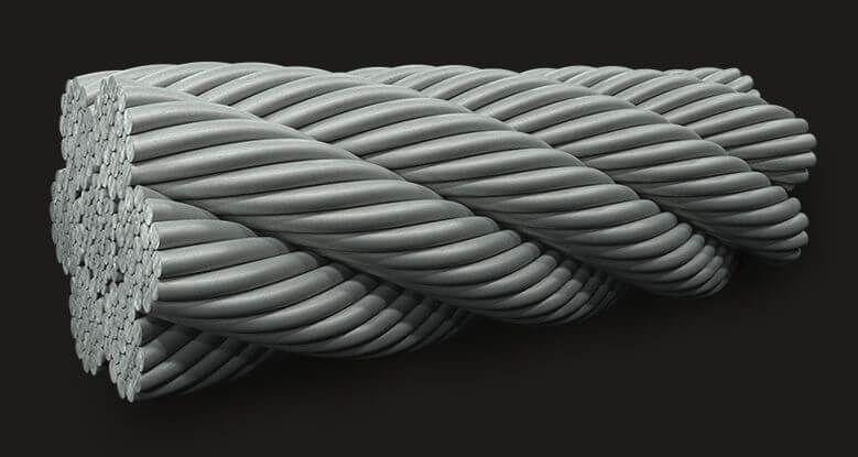 绿盟GB填料钢丝绳6X19(12/6+6F/1) IWRC