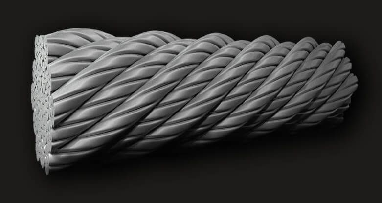 绿盟GB压实型不旋转钢丝绳19X7 (6/1)