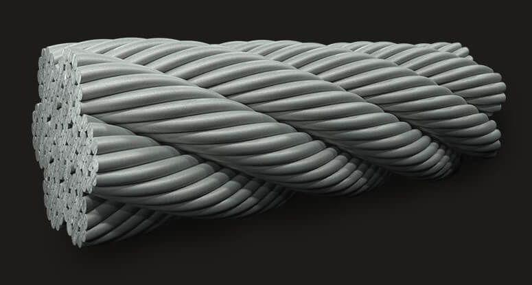 绿盟 国标 钢丝绳 7*19
