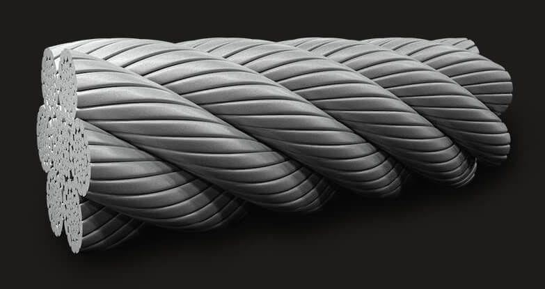 绿盟GB压实型钢丝绳6x36(14/7+7/7/1) IWRC