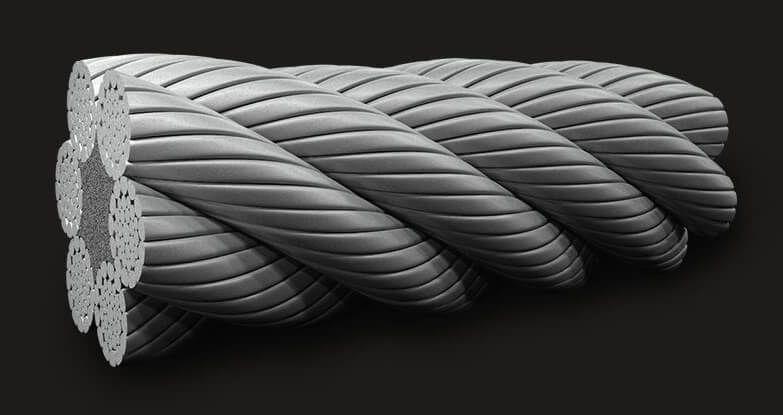 绿盟GB(有涂层)压实型钢丝绳6x36 (14/7+7/7/1) FC