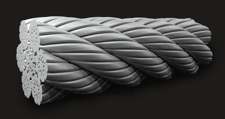 绿盟GB(有涂层)压实型密封钢丝绳6X19 (9/9/1) IWRC