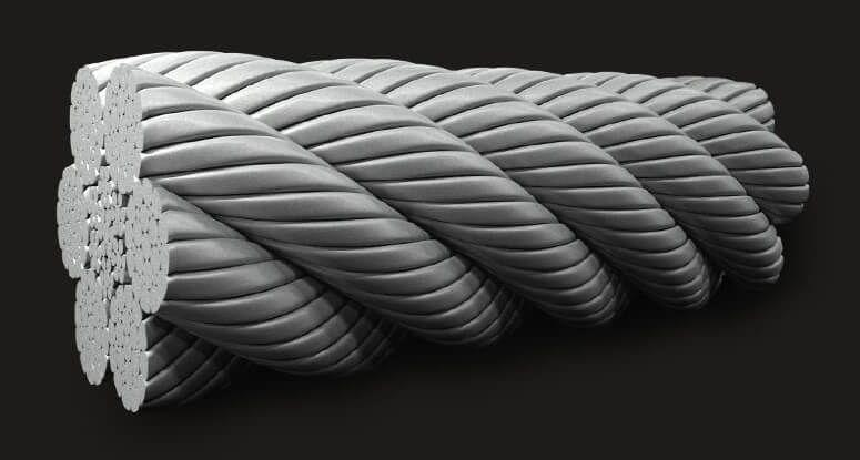 绿盟GB(有涂层)压实型填料钢丝绳6X19(12/6+6F/1) IWRC