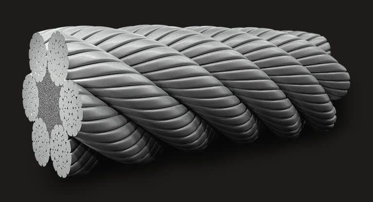 绿盟GB(有涂层)压实型填料钢丝绳6X19(12/6+6F/1) FC
