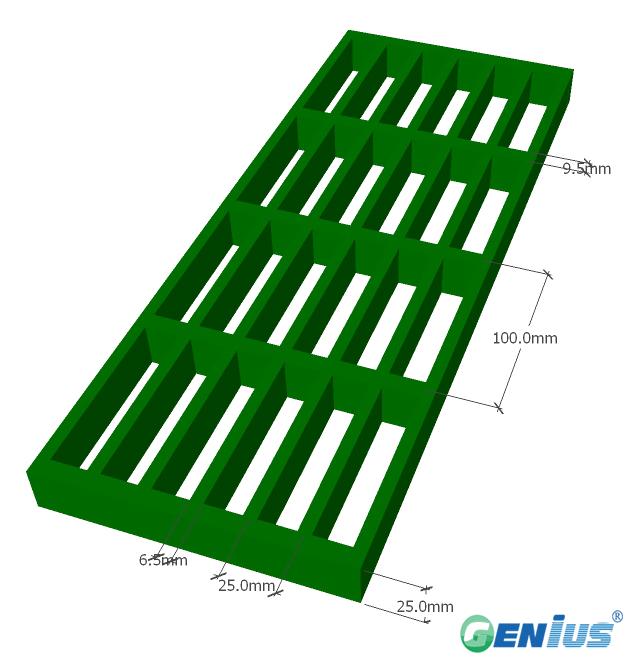 玻璃钢模塑格栅25*100H25标准负载型