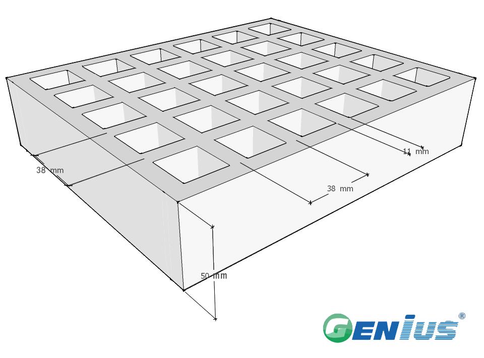 玻璃钢模塑格栅38*38H50重负载型