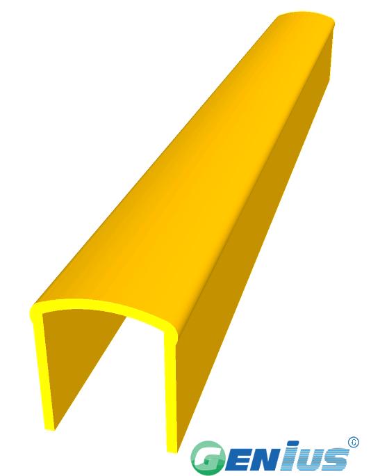 结构型材-U型方管扶手型材 (乙烯基)