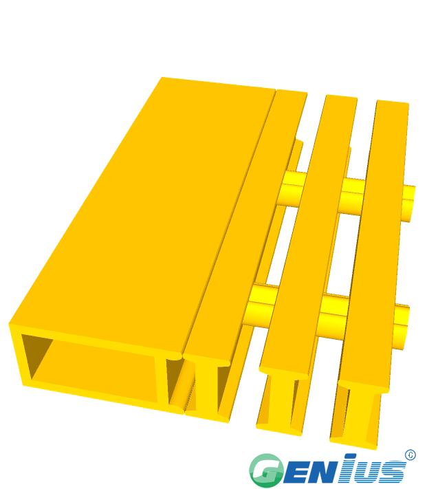 结构型材-楼梯踏板扁管(乙烯基)